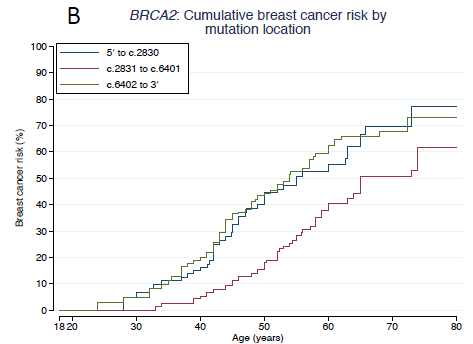 Breast And Ovarian Cancer Risk In Patients With Brca 1 2 Mutations Impact Of Family History And Mutation Position